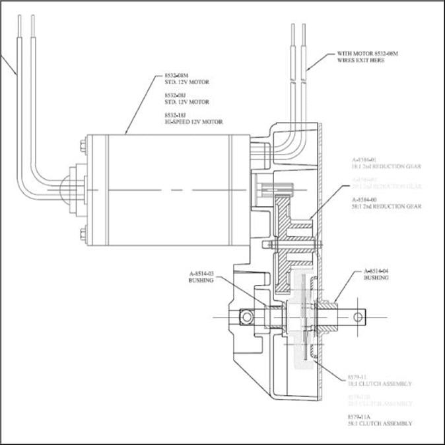 Lippert 045-191073 Venture 28:1 Motor Replacement Gear Set