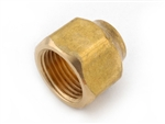 "Brass Short Forged Reducing Nut - 1/2"" To 3/8"""