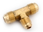 "Anderson Brass Flared Reducing Tee - 1/2"" x 1/2"" x 3/8"""