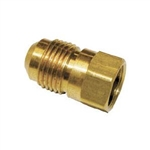 "Brass Male Flare To Female Pipe Thread Coupling - 3/8"" x 1/4"""