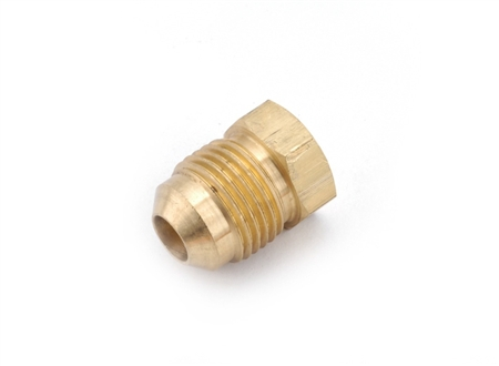Anderson Metals Brass Male Flared Sealing Plug - 1/4""