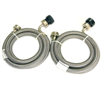 Pinnacle 18-2826 Stainless Steel RV Washer Inlet Hoses - Set of 2