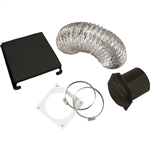 Splendide VID403AB Deluxe RV Dryer Vent Kit - Black
