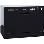 Vesta DWV322CB Counter Dishwasher- Black