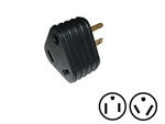 Surge Guard 09521-TR-08 15Amp to 30Amp Triangle Molded Adapter