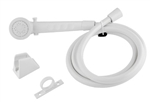 Dura Faucet White Shower Head & Hose Kit