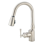 American Brass SL2000N Single-Lever Gooseneck Spout RV Kitchen Faucet, Brushed Nickel