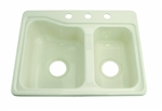 Lippert 209404 Better Bath Double Bowl Galley Sink - Parchment