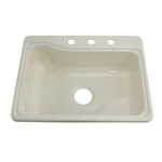 Lippert 209407 Better Bath Single Bowl Galley Sink - Parchment