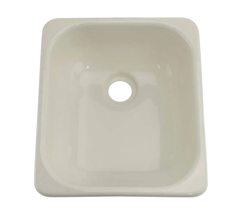 Lippert 209351 Better Bath Single Square Galley Sink - Parchment