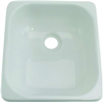 Lippert 209630 Better Bath Single Square Galley Sink - White