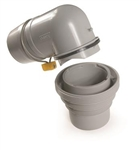 Camco Easy Slip 4-in-1 RV Sewer Adapter with Elbow