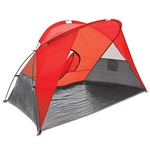 Picnic Time Cove Sun Shelter - Red/Grey/Silver