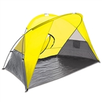 Picnic Time Cove Sun Shelter - Yellow/Grey/Silver