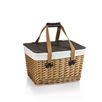 Picnic Time Canasta Picnic Basket - Natural Willow with Tan Lining