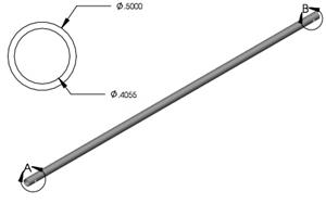 Lippert 127541 24'' Slideout Manual Crank W/ Roll Pin