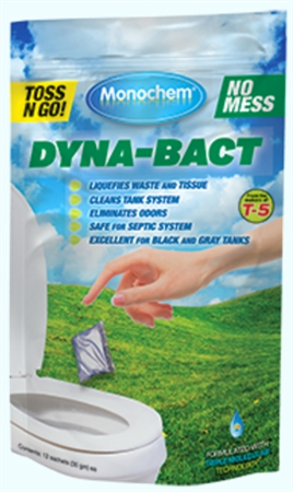 Monochem 30807 Dyna-Bact RV Water Soluble Portion Control