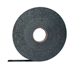 "AP Products 018-1400125B Black Mylar Backed PVC Foam Tape - 1/4"" x 1 1/2"" x 30'"
