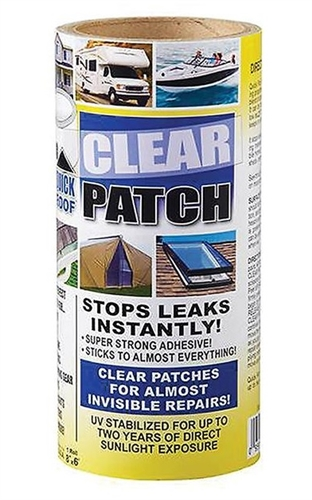 "CoFair QRCP86 Quick Roof Clear Repair Tape - 8"" x 6'"