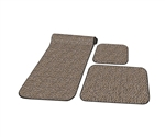 Prest-O-Fit 5-0263 Decorian 3 Piece RV Rug Set Peppercorn