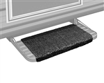 "Prestofit Wraparound RV Step Rug, Black 18"" W"