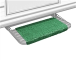 "Prestofit Wraparound RV Step Rug, Green 18"" W"