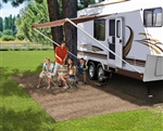 Prest-O-Fit 2-0171 RV Patio Rug Mat - Brown - 8' x 20'