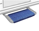 "Prestofit Wraparound RV Step Rug, Imperial Blue 18"" W"