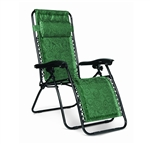 Camco 51821 Regular Padded Zero Gravity Recliner Green Swirl