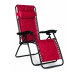 Camco 51823 Regular Padded Zero Gravity Recliner Red Swirl