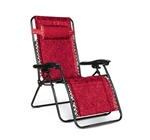 Camco 51830 Large Zero Gravity Recliner Red Swirl