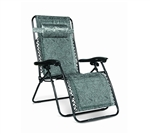 Camco 51840 Large Padded Zero Gravity Recliner Black Swirl