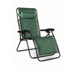 Camco 51841 Large Padded Zero Gravity Recliner Green Swirl