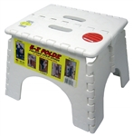 E-Z Foldz Step Stool, White