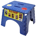 E-Z Foldz Step Stool, Blue