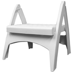 Adams 8530-48-3730 Quik Fold Step Stool, White