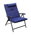 Prime Products 13-3372 Plus Reclining Folding Chair - California Blue