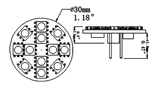 ming u0026 39 s mark inc  5050102 back pin 12 led replacement bulb
