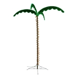 Mings Mark 8080104 Green & Yellow Led Palm Tree 7'