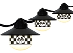 Polymer Products 1604-SPEEDWAY Globe String Lights- Speedway Flag