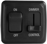 Diamond Group LDSDIM25 LED Pulse Wave Dimmer On/Off Switch - Black