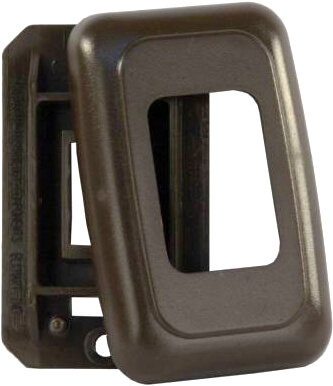 JR Products 12195 RV Single Switch Base & Face Plate - Brown