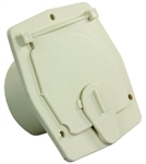 "JR Products S-27-14-A Square Electric Cable Hatch - 2-27/32"" Cutout - Colonial White"