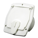 "JR Products S-27-10-A Square Electric Cable Hatch - 2-27/32"" Cutout - Polar White"