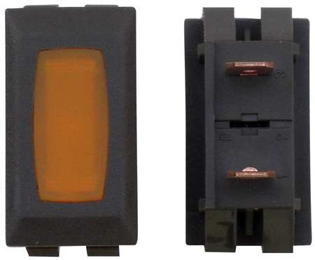 Diamond Group ZU-07-14C 12V Power Indicator Lamp - Brown/Amber