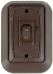 Valterra DG711VP SPST On/Off Wall Plate Switch - Brown