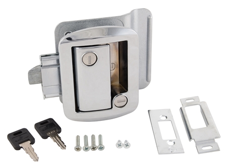 Global Link TTL-43610-PC RV Entry Door Lock With Keys - Chrome