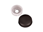 RV Designer H603 RV Finish Caps With Collars - Black - 14 Pack