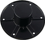 AP Products 013-1112B Round Flush Mount Table Leg Base - Black