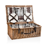 Picnic Time Newbury Picnic Basket - Blue, Navy and Maroon Plaid
